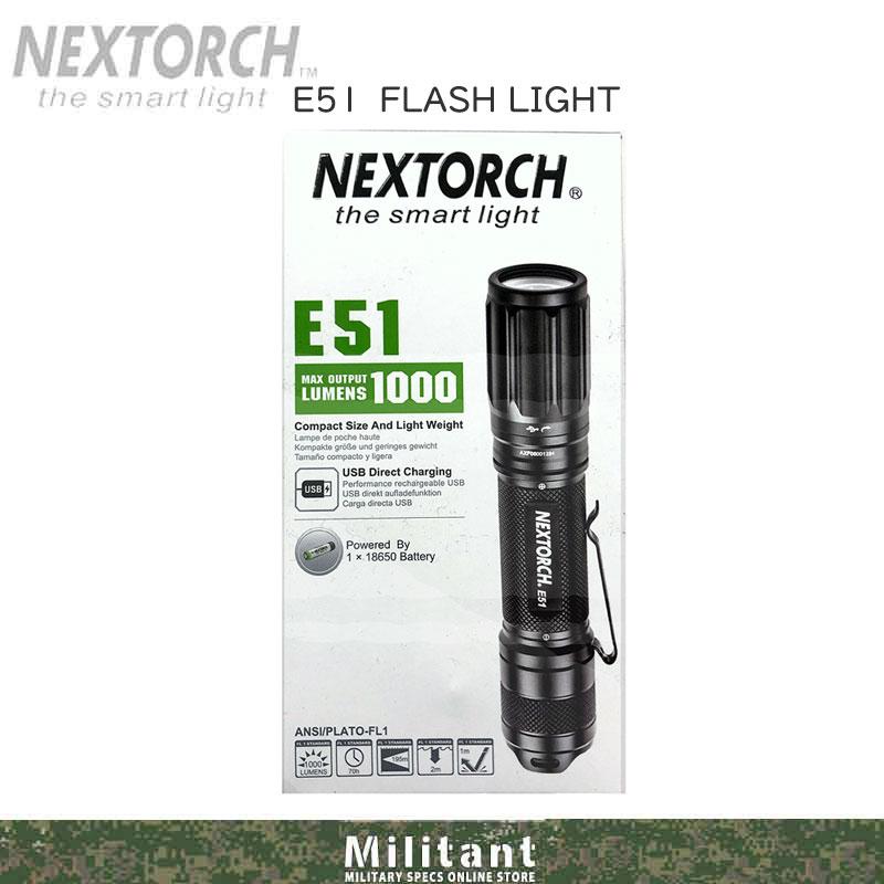 NEXTORCH E51 フラッシュライト USB充電 1000ルーメン