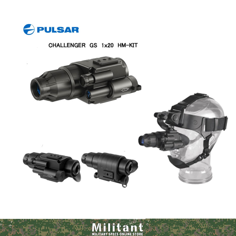 PULSAR ナイトビジョン 第1.5世代 ヘッドマウントキット CHALLENGER GS 1×20 HM-KIT