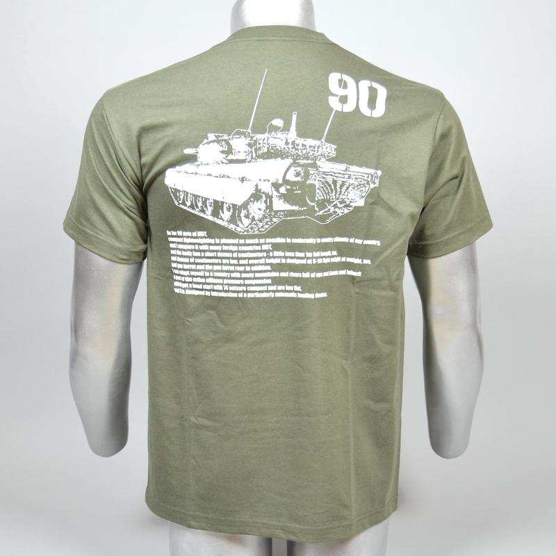 吸汗・速乾 90戦車Tシャツ(90後ろ姿)