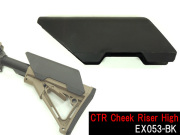 【送料無料】☆【ELEMENT製】ストック チークピース CTR Cheek Riser High BK EX053-BK
