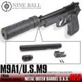 M9A1/US.M9 メタルアウターバレルSAS NEO[14mm逆ネジ・CCW]