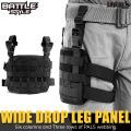 ライラクス Battle Style バトルスタイル ワイドドロップレッグパネル BK エアガン エアーガン