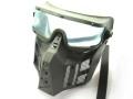 サンセイ SWG-4サバイバルゲーム用 マスク&ゴーグルファイティングWプロテクター クリアー エアガン エアーガン