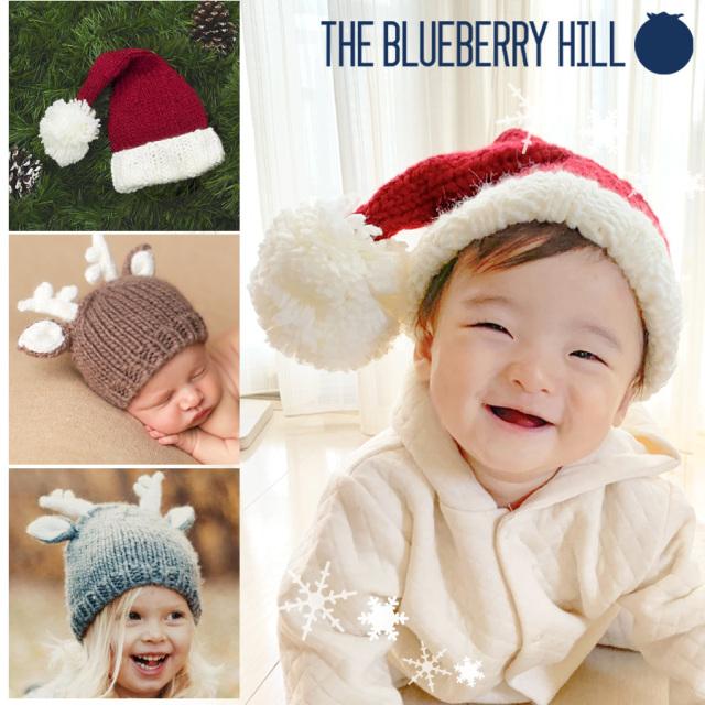 【ベビー・キッズ】ブルーベリーヒル ニットキャップ ベビー帽子 ニット帽 帽子 男の子 女の子 サンタ帽 トナカイ クリスマス