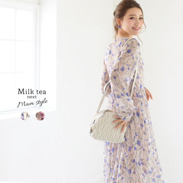 <Milk tea next>カトレア(長袖・裏地付き)◆4月上旬頃再入荷◆