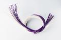 ラタンベース・輪結び  紫/白