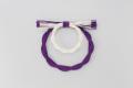ラタンベース・二重 白/紫