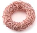 ふんわりラタンリース・大 ピンク メーカー廃盤セール 60%OFF