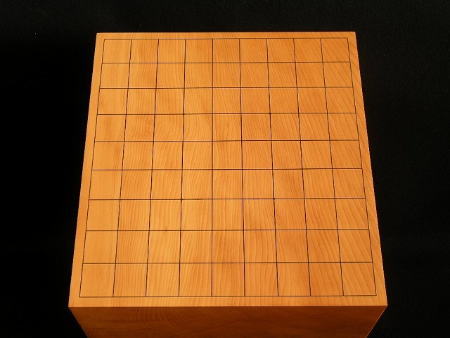 """""""陽炎の盤"""" 日向榧将棋柾目盤 6.0寸"""
