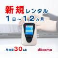 ポケットwifiレンタルdocomoドコモJT201月容量30GB