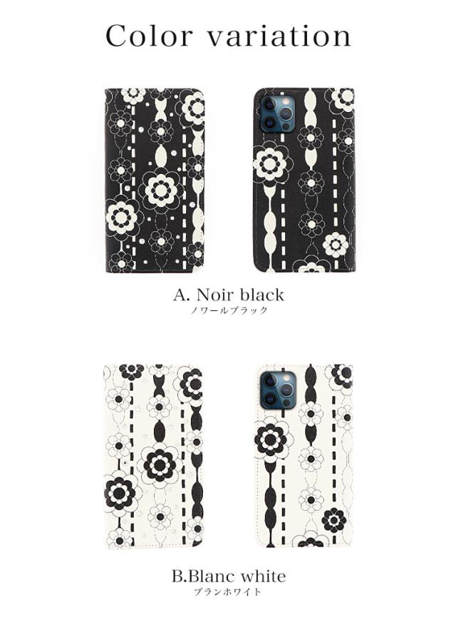 スマホケース 手帳型 カバー 手帳型ケース ベルトなし 花柄 カメリア ドット