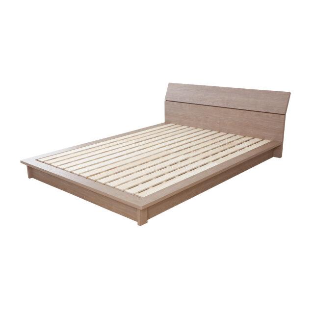 デザインローベッド 桐すのこ床板 安定感のあるステージタイプ 日本製フレーム 