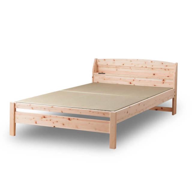 棚コンセント付 | 島根県産高知四万十産ひのき畳ベッド