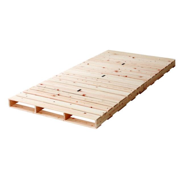 国産ひのきパレットベッド 組み合わせ自由自在 パレット仕様 頑丈な作り 耐荷重500キロ 島根・高知県産ヒノキ100%使用