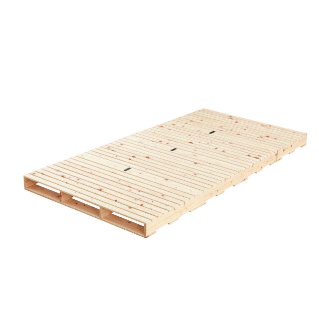 通気性大幅UP 繊細国産ひのきパレットベッド 組み合わせ自由自在 頑丈な作り 耐荷重500キロ 島根高知県産ひのき100%使用
