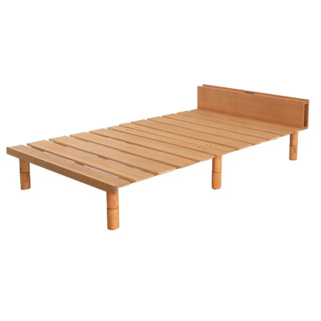 高さ調整機能付き| ステージすのこ脚付きベッド コンセント付き 選べるカラー(vq1126)1126)