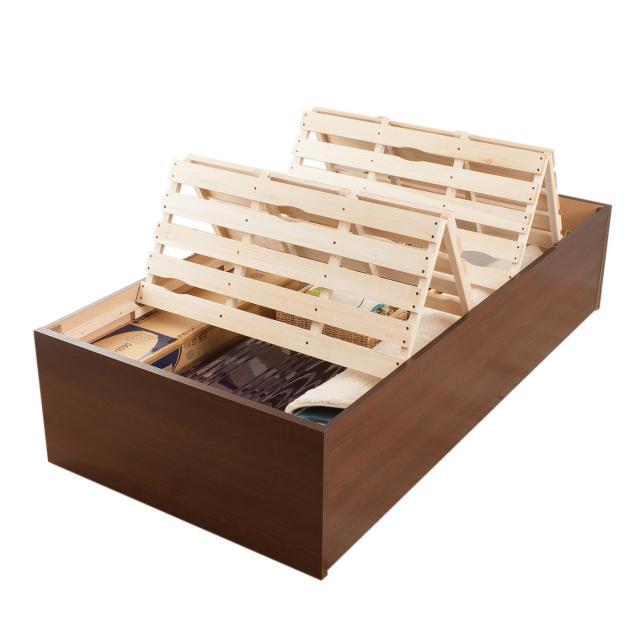 すのこベッド  布団を干せる 日本製 桐すのこベッド日本製フレーム セミシングル、シングル、セミダブル