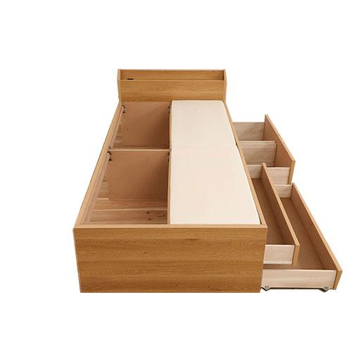 即日出荷OK 大型収納ベッド 4杯収納 コンセント付き 組立簡単