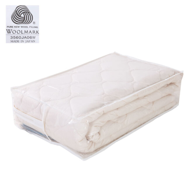 欧州ウールのベッドパッド(日本製)*1枚 敷き布団やマットレスに利用可能 各サイズ豊富に取り揃えてあります