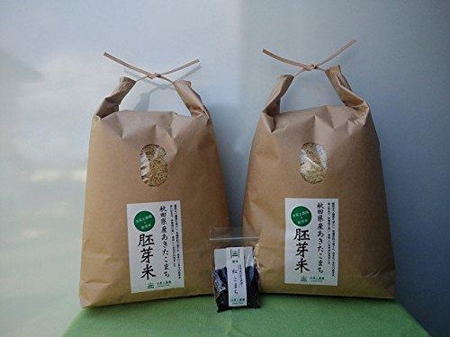 【胚芽精米】秋田県産 農家直送 水菜土農園の胚芽米 10kg(5kg×2袋)令和元年産 古代米付き