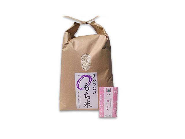 新米【もち米】秋田県産 農家直送 きぬのはだ 10kg 令和元年産 古代米付き