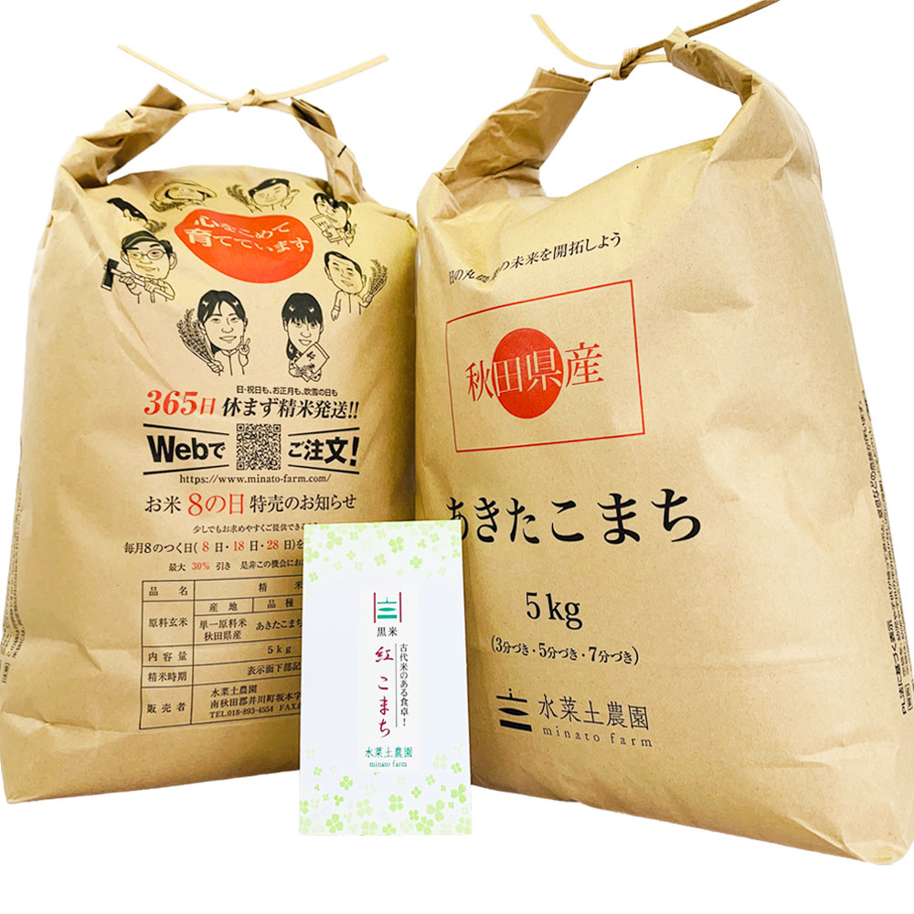 【定期便】秋田県産 農家直送 あきたこまち 子どもに食べさせたいお米 精米10kg(5kg×2袋) 古代米付き