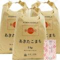 【定期便】秋田県産 農家直送 あきたこまち 子どもに食べさせたいお米 精米15kg(5kg×3袋) 古代米付き