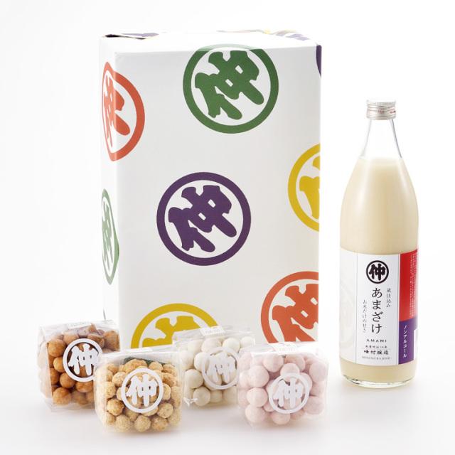 峰村醸造 甘酒ギフトA/豆菓子4種セット