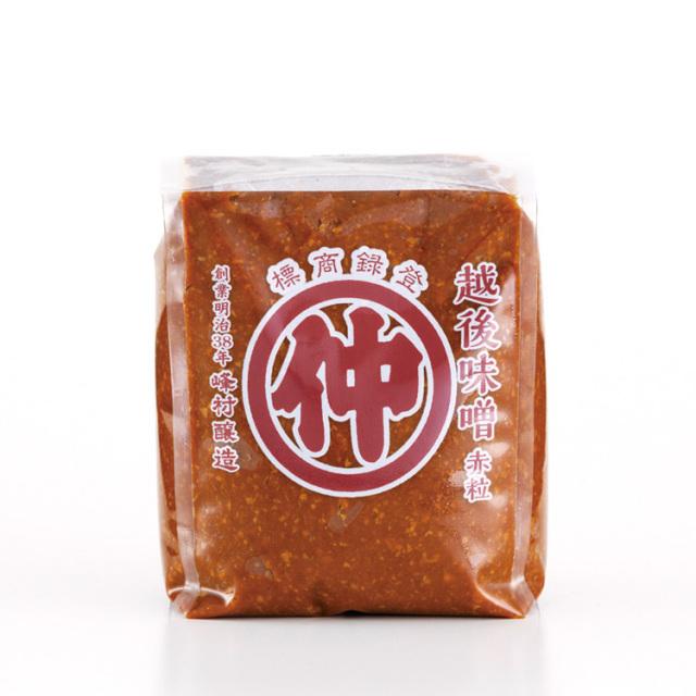 マルナカ 越後味噌 赤粒 1kg
