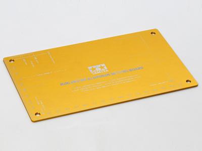 T95201 タミヤ ミニ四駆 HGアルミセッティングボード(ゴールド)