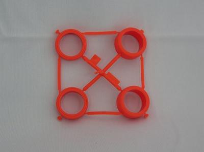 T190007371-000 タミヤ アフターパーツ 大径ハード カラータイヤ(オレンジ)