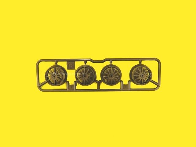 T08259 タミヤアフターパーツ ローハイトホイール(フィン・ダークシルバー)