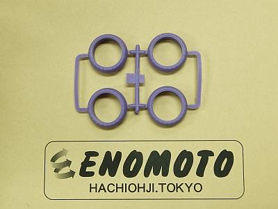 T10006554-000 タミヤ アフターパーツ カラーバレルハードタイヤ(ムラサキ)