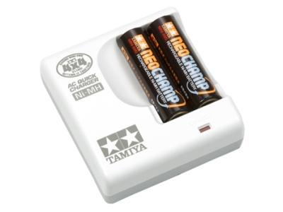 T15419 タミヤ ミニ四駆 単3形ニッケル水素電池 ネオチャンプ(2本)と急速充電器セット