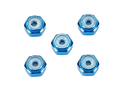 T15500 タミヤ 2mmアルミロックナット(ブルー5個)