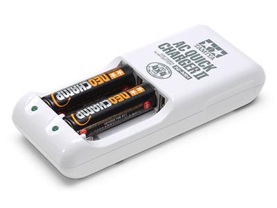 T55115 タミヤ 単3形ニッケル水素電池 ネオチャンプ(2本)と急速充電器 II