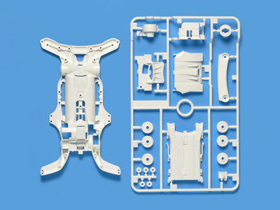 T95251 タミヤ AR強化シャーシ(ホワイト)