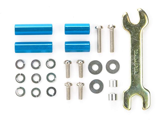 T95322 タミヤ アルミ六角マウントセット(ブルー 10mm・15mm)