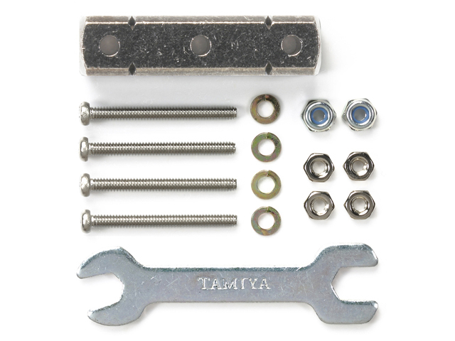 T95346 タミヤ マスダンパー スクエア(8×8×32mm・シルバー)