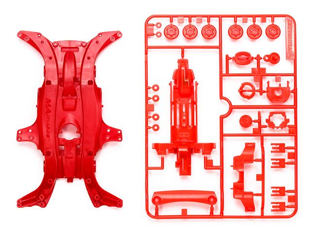 T95384 タミヤ MA強化シャーシセット(レッド)