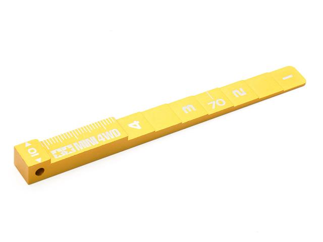 T95457 タミヤ ミニ四駆 セッティングゲージ(ゴールド)