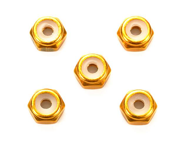 T95458 タミヤ 2mmアルミロックナット(ゴールド5個)