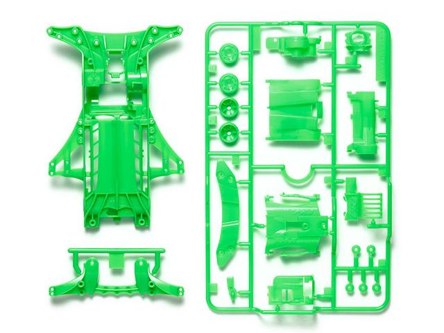 T95476 タミヤ FM-A蛍光カラーシャーシセット (グリーン)