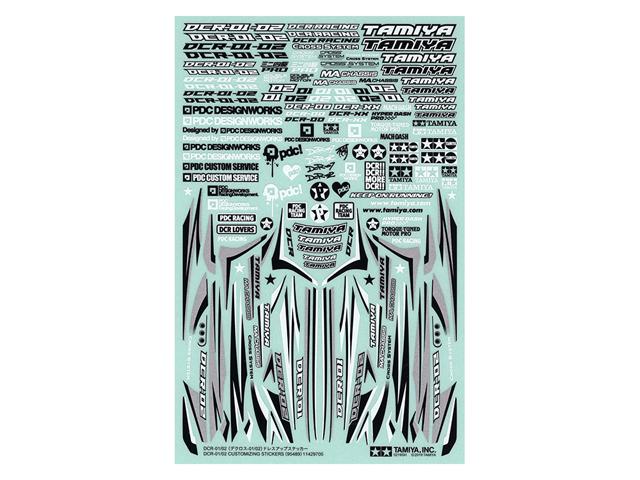 T95489 タミヤ DCR-01/02 (デクロス-01/02) ドレスアップステッカー