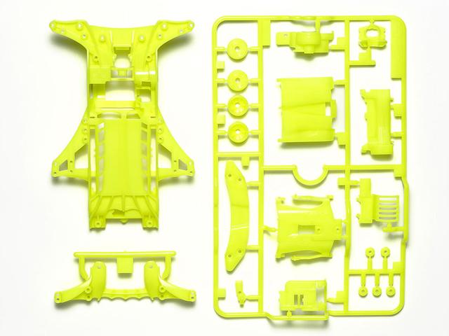 T95494 タミヤ FM-A蛍光カラーシャーシセット (イエロー)