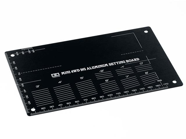T95507 タミヤ ミニ四駆 HG アルミセッティングボード(ブラック)