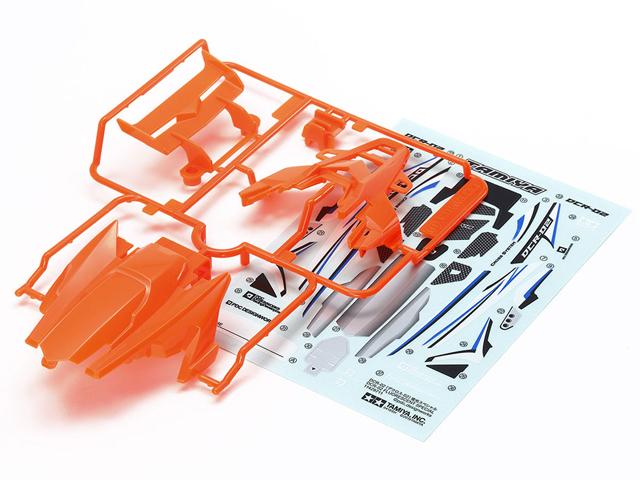 T95511 タミヤ DCR-02 (デクロス-02) ボディパーツセット (蛍光オレンジ)