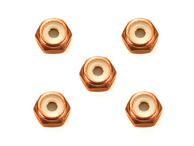 T95556 タミヤ 2mmアルミロックナット (オレンジ5個)