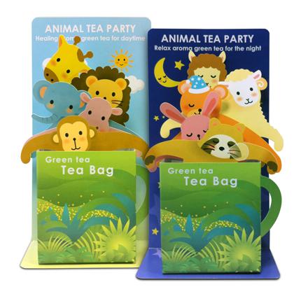 可愛い動物たちのティ-バッグセット《ANIMAL TEA PARTY》