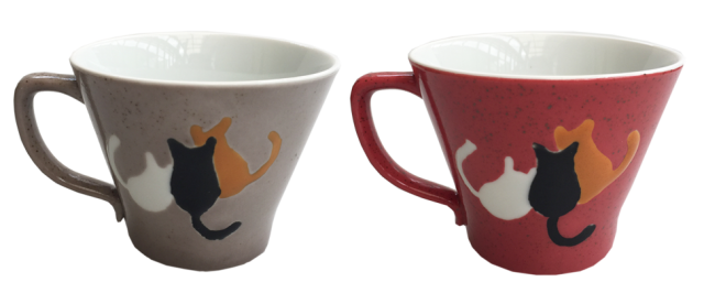 マグカップセット 仲良し三匹猫